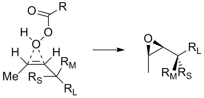 Diastereoselective epoxidation of a cis alkene