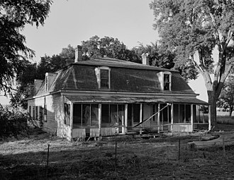 Fort Keogh - Officers' Quarters at Fort Keogh in 1989