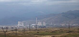 Energy in Armenia - The Hrazdan Thermal Power Plant in central Armenia