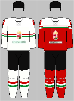 Hungary men's national ice hockey team - Image: Hungary national ice hockey team jerseys 2016
