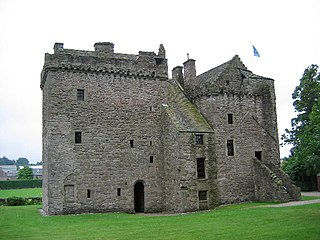 Huntingtower Castle castle in Perth and Kinross, Scotland, UK