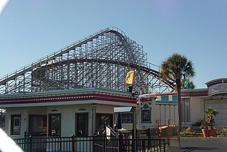 Custom Coasters International - CCI's Hurricane at the Myrtle Beach Pavilion