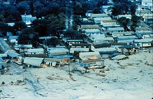 Hurricane Hugo - Mobile homes destroyed by Hugo's storm surge