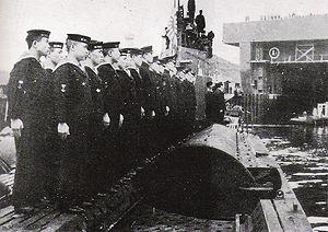 Japanese submarine I-8 - The I-8 arriving in Brest, France