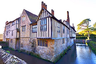 Manor house - Ightham Mote, a 14th-century moated manor house in Kent, England