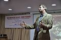 Iain Simpson Stewart - Lecture on Communicating Geoscience through the Popular Media - NCSM - Kolkata 2016-01-25 9410.JPG