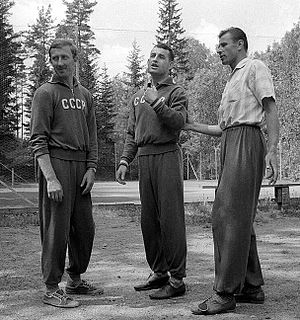 Igor Netto - Igor Netto, Sergei Salnikov and Lev Yashin at the 1958 World Cup