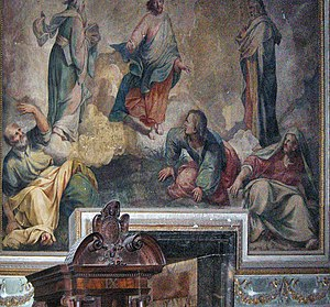 Durante Alberti - The Transfiguration, in the church Il Gesù, Rome.
