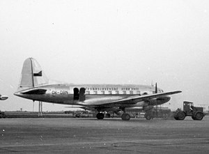 Czech Airlines - An Ilyushin Il-12 of Czechoslovak Airlines at Paris Orly Airport in 1957
