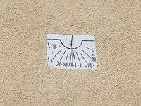 Immaculate Conception Church, sundial, 2016 Bonyhad.jpg