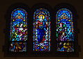 Immaculate Conception Church (Columbus, Ohio) - stained glass, Queen of Angels.jpg