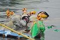 Immersed Durga Idol - Baja Kadamtala Ghat - Kolkata 2015-10-22 6598.JPG