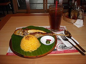 Bacolod Chicken Inasal - Three items that can be ordered as a set.