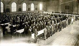 Kenneth C.M. Sills - Inaugural luncheon for President Kenneth Sills in Sargent Gymnasium, Bowdoin College, Brunswick, Maine, 1918
