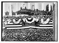 Inauguration of Cleveland - flag bedecked podium and crowd LCCN2014683136.jpg