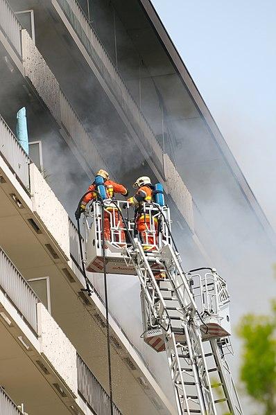 Incendie à Evere av. H. Dunant