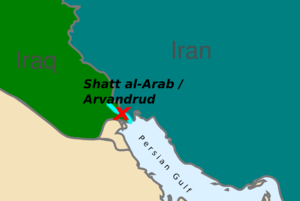 Joint Operation Arvand - Location of the conflict