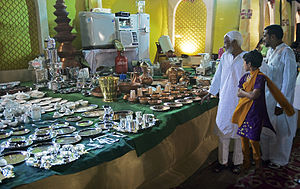 Dowry system in India - Wedding gifts for  the son of the Imam of Delhi, India, with soldiers and 2000 guests.
