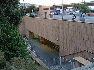 Dinegro (Genoa Metro) - Image: Ingresso metro genova dinegro 1