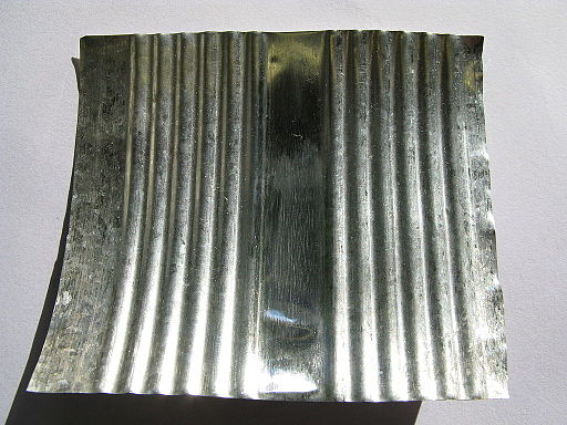 Inside of a tin platted can