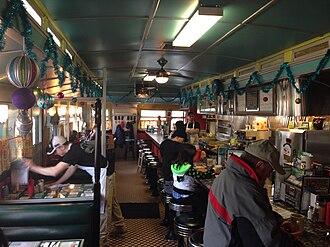 Monarch Diner - inside the diner