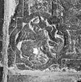Interieur, grafzerk in koor, detail afbeelding evangelisten symbool (C), in hoek priesterzerk. - Reeuwijk - 20374738 - RCE.jpg