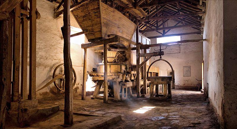 Interior del viejo molino de Huaco, San José de Jáchal