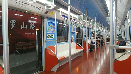 Interior of Shanghai Metro Line 11 Train Bearing Disney Branding 02