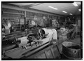 Interior of machine shop-lathes. - Barbour Boat Works, Tryon Palace Drive, New Bern, Craven County, NC HAER NC,25-NEBER,29-29.tif