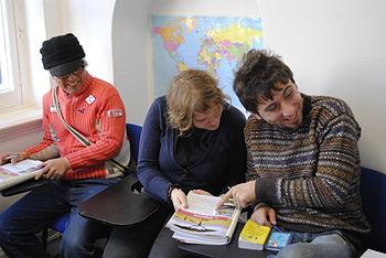 An intermediate language class at Shane Global...