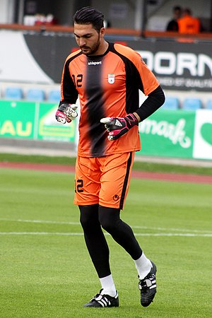Alireza Haghighi - Haghighi before match against Montenegro, 26 May 2014