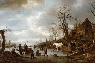 Winter Landscape near an Inn