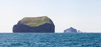 Vestmannaeyjar - Suðurey, Hellisey, Súlnasker and Geldungur islands.
