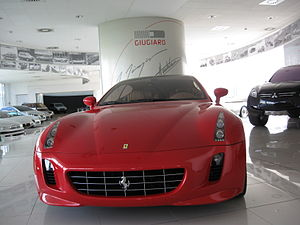 "Italdesign Giugiaro - A 2005 Ferrari GG50 (""Giorgetto Giugiaro 50""), marking Giugiaros 50 years in design.  On display in the Italdesign-Giugiaro showroom in Moncalieri, Italy"