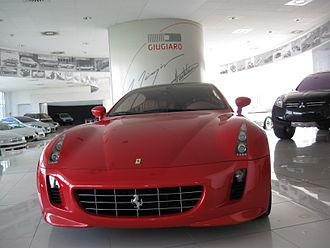 "Italdesign Giugiaro - A 2005 Ferrari GG50 (""Giorgetto Giugiaro 50""), marking Giugiaros 50 years in design.  On display in the Italdesign-Giugiaro showroom in Moncalieri, Italy"