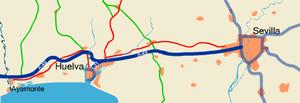 Autovía A-49 - Image: Itinerario a 49