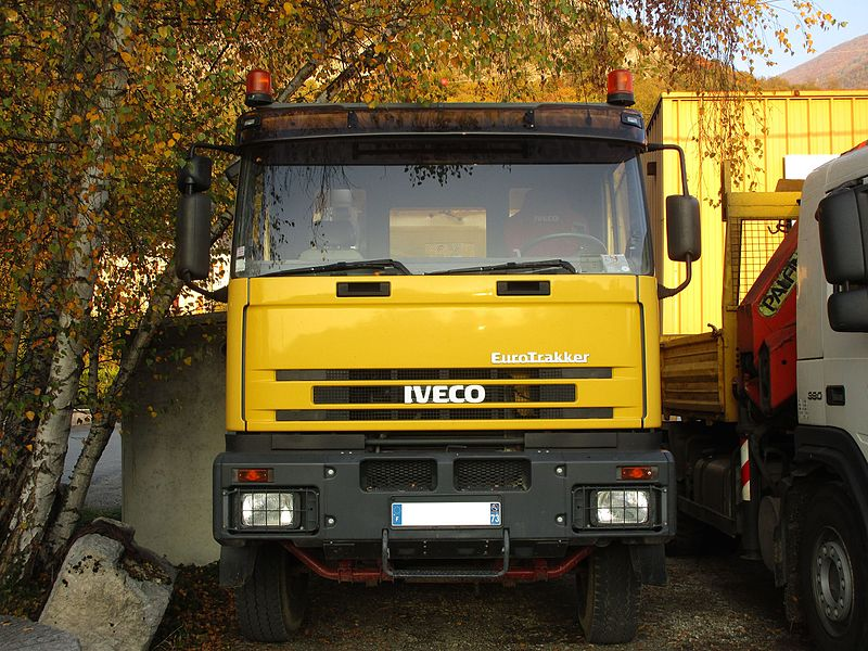 A truck Iveco Eurotrakker in Challes-les-Eaux on October 29, 2016.