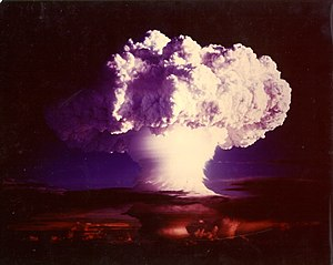 Americium - Americium was detected in the fallout from the Ivy Mike nuclear test.