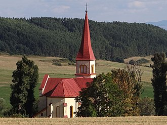 Jánovce - View on a church in Jánovce