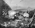 J.L. Camradt - Blomster på en sten. I baggrunden et bjerglandskab - KMS202 - Statens Museum for Kunst.jpg
