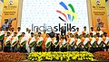 J.P. Nadda, Smt. Smriti Irani and Shri Rajiv Pratap Rudy and other dignitaries at the 2nd Anniversary Celebrations of the Skill Indian Mission, on the occasion of the World Youth Skill Day, in New Delhi.jpg