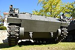 JGSDF Type 75 wind measurement vehicle(No.KU130A-0012A) right front low-angle view at Camp Himeji October 21, 2018 01.jpg