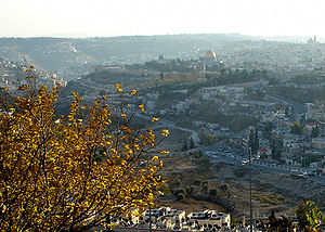 Old City of Jerusalem from Mount Scopus. This ...