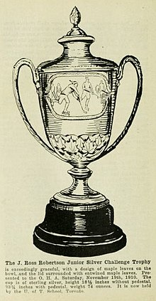Printing which depicts the trophy
