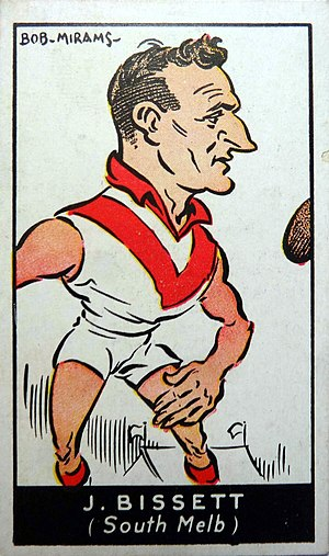 1933 VFL Grand Final - South Melbourne Captain-coach Jack Bisset