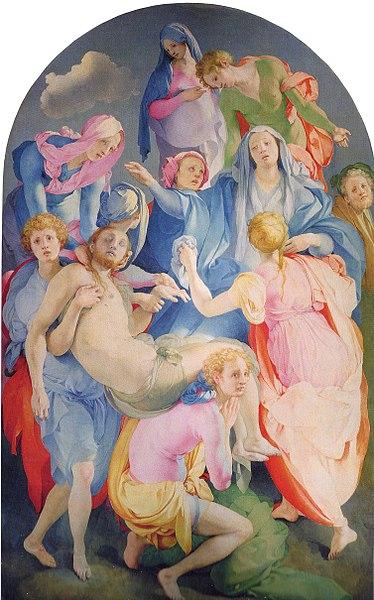 Ficheiro:Jacopo Pontormo - Kreuzabnahme Christi.jpg