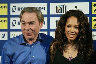 Andrew Lloyd Webber - Lloyd Webber and the UK's Eurovision entrant Jade Ewen