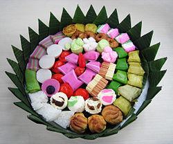 Jajan pasar (market munchies) in Java, consist of assorted kue.