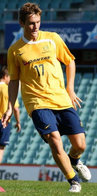 James Holland (footballer) - Holland with Australia in 2008