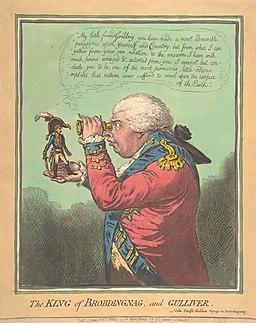 James Gillray The King of Brobdingnag and Gulliver.–Vide. Swift's Gulliver- Voyage to Brobdingnag The Metropolitan Museum of Art edit